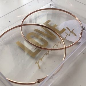 Hoop earrings various sizes, gold/rose gold